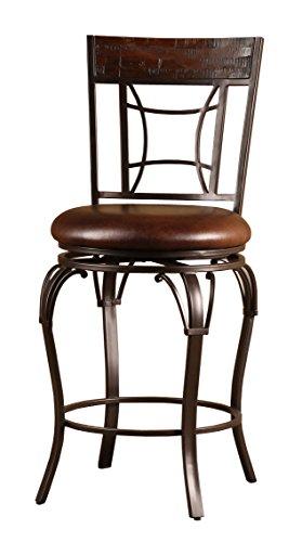 Seat Swivel Spectator Stool - Hillsdale Granada Swivel Counter Stool, Brown