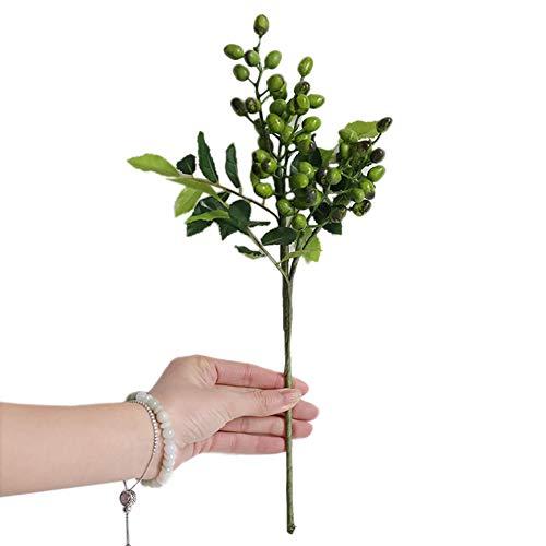 dSNAPoutof Artificial Flowers, 1Pc Berry Leaf Home Garden Arrangement Desktop Home DIY Decor, Boutonniere Green