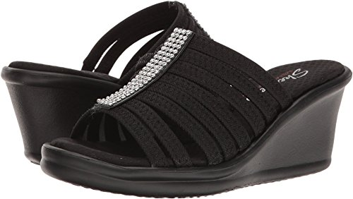 s Rumblers Hot Shot Wedge Sandal,black,10 M US ()