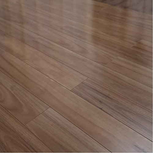Dekorman 4008 Golden Eucalyptus High Gloss Laminate Flooring Length (16.48 sq. ft./Case) L x 5'' W, 12 mm Thickness, 48'' L x 5'' W per Plank, Light Brown