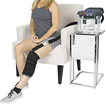 Image of Vive Cold Therapy Machine - Large Ice Cryo Cuff - Flexible Cryotherapy Freeze Kit System Fits Knee, Shoulder, Ankle, Cervical, Back, Leg, Hip and ACL - Wearable Adjustable Wrap Pad - Cooler Pump Health and Household