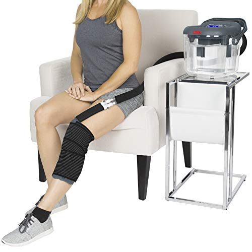 Vive Cold Therapy Machine - Large Ice Cryo Cuff - Flexible Cryotherapy Freeze Kit System Fits Knee, Shoulder, Ankle, Cervical, Back, Leg, Hip and ACL - Wearable Adjustable Wrap Pad - Cooler Pump (Ice Compression Machine)