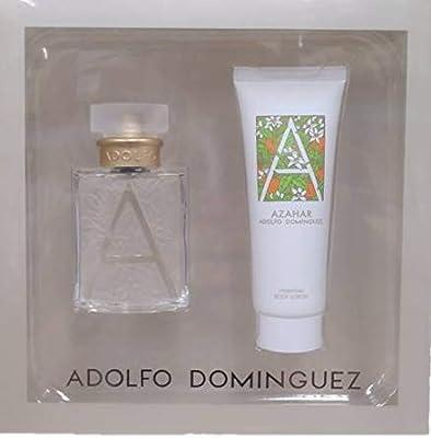 ADOLFO DOMINGUEZ AZAHAR WOMAN ESTUCHE EDT 50ML+BODY MILK 75 ML: Amazon.es: Belleza