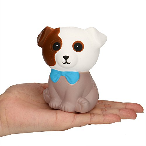 ZOMUSAR Squishies Slow Rising Jumbo Kawaii Cute Spotted Dog Mousse Cake Creamy Scent for Kids Party Toys Stress Reliever Toy (As shown) ()