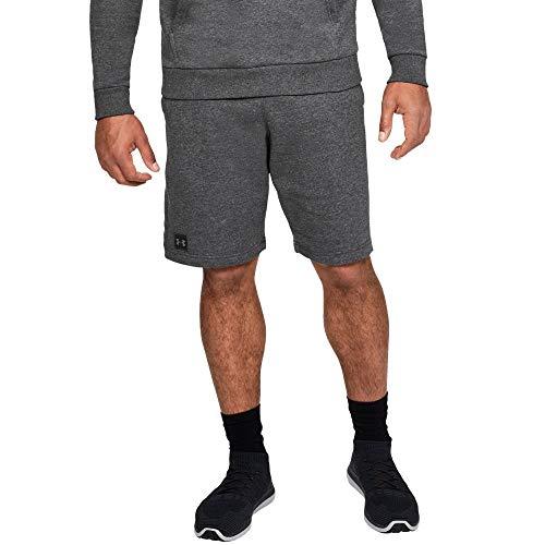 Under Armour Men's Rival Fleece Short, Charcoal Light Heath (020)/Black, Large