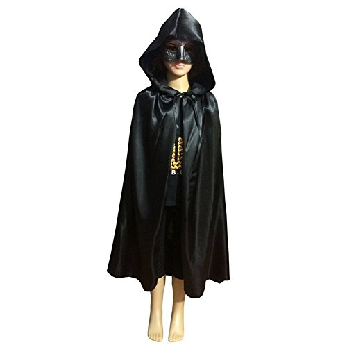 Labellevie Cloak with Hood Child Unisex Hooded Cape Costume Halloween Party (Witches Dress Up)