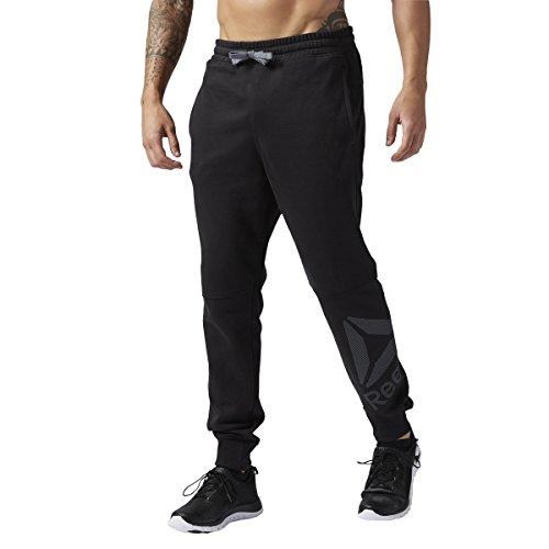 Reebok Mens Wor Big Logo Cotton Pant, black, X-Large