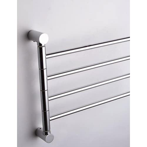 KHSKX Silver-White Wall-Mounted Space Aluminum Activities 4-Arm Towel Bar 85%OFF