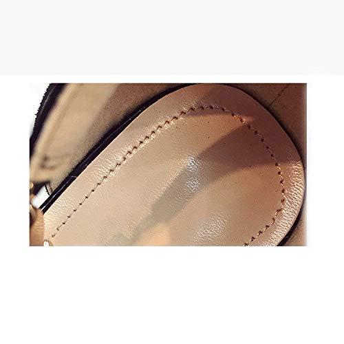 Lo Nero Pepe Eeayyygch Ruvido colore Alla Intorno Sandali Dimensione Serpente Nuova Il Paragrafo Stesso Coreana Nero Benda 35 Strass Toe Del Open Piccolo Con Versione La BrBY7wqx8