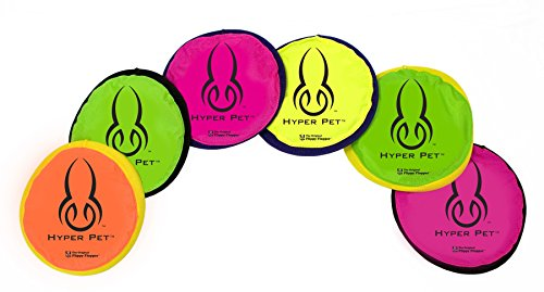 Flopper Hyper Pet Frisbee 9 (Set of 5) COLORS MAY VARY (Original Frisbee)
