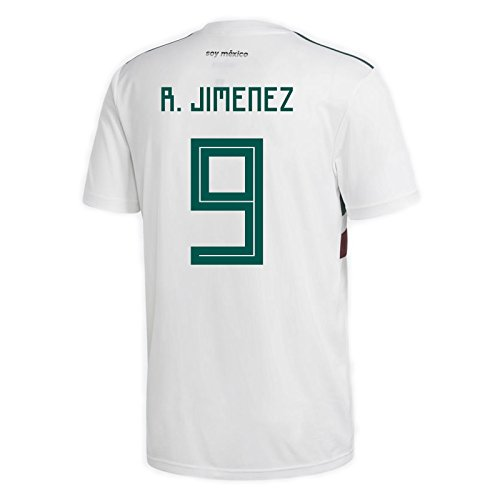 adidas R. Jimenez #9 Mexico Away Men's Soccer Jersey World Cup Russia 2018 (XL)