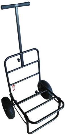 MDI Pneumatic Compact T Bar Fold-Away Trolley for Fishing Seatboxes Folds Flat