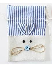 DISOK - Bolsa Yute Ratón Azul - Bolsas para Niños, Recién Nacidos, Para Dientes