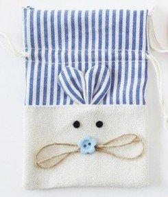DISOK - Bolsa Yute Ratón Azul - Bolsas para Niños, Recién Nacidos, Para Dientes, Bolsitas Detalles y Recuerdos de Bautizos, Baby Shower