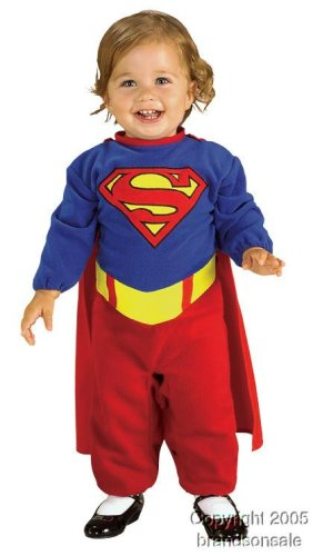 Supergirl Costume Changes (Superman Romper With Removable Cape Supergirl, Supergirl Print, Newborn)