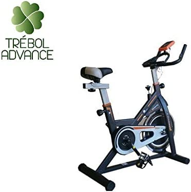 TRÉBOL ADVANCE Bicicleta de Spinning Pantalla LCD, Resistencia Variable. Regulable.: Amazon.es: Deportes y aire libre