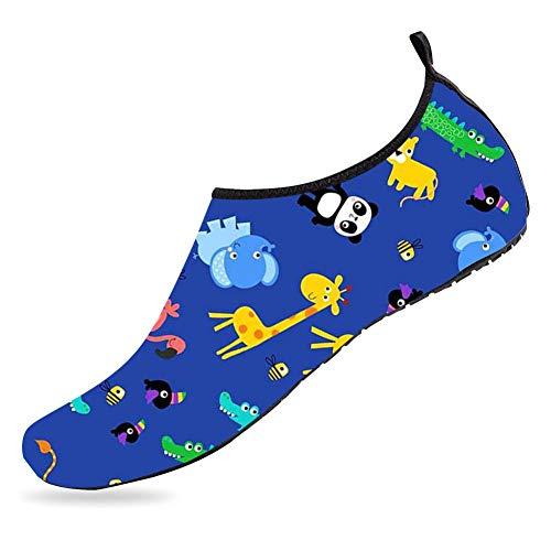 Plspaezxx Water Sports Shoes Barefoot Quick-Dry The Zoo Art Aqua Yoga Socks for Mens Womens Boys & Girls Toddler