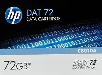 HP C8010A DAT-72 72GB 162 KB/inch Recording Density Data Cartridge Computer Peripherals