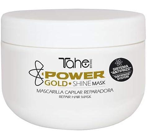 Tahe Shine Power Gold Mask Mascarilla Reparadora de Pelo Tratamiento Capilar Para Todo Tipo de Cabellos sin Parabenos ni Sulfatos ni Siliconas, 300 ml: Amazon.es: Belleza