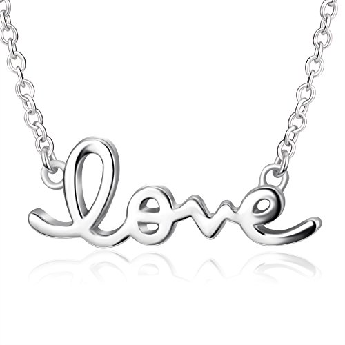 Cursive Love Necklace | 925 Sterling Silver