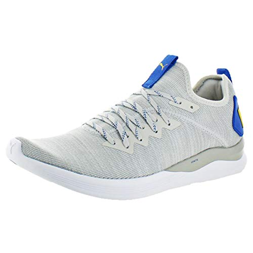PUMA Men's Ignite Flash Evoknit Sneaker, Glacier Gray White-