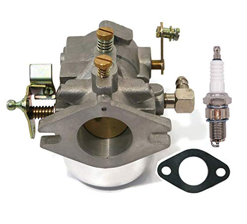 Atoparts Carburetor with Spark Plug for Kohler K Series K482 K532 K582 Twin Motor ()