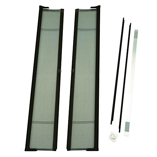 ODL Brisa Premium Retractable Screen Kit for 96 in. Inswing/Outswing Double Doors - Bronze