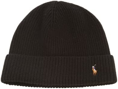 8eef15d10ce Amazon.com  Polo Signature Cuff Wool Beanie Mens Style 604790  Sports    Outdoors
