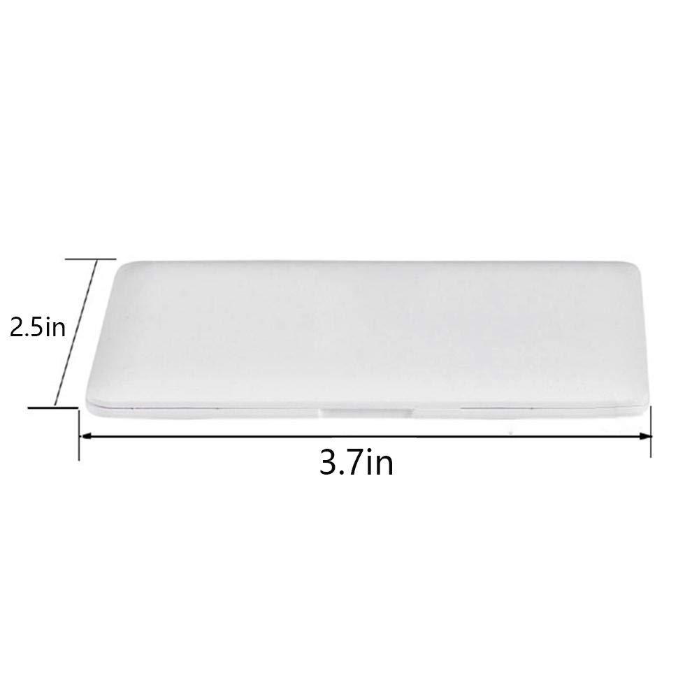 QIYUE Tragbare Mini-Make-up-Objektiv Tasche Laptop Glas M/ädchen kreative Wohnkultur Klappspiegel Kit wei/ß