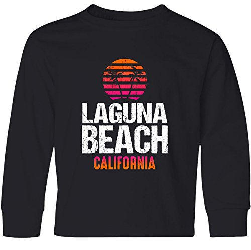 inktastic - Sunset Laguna Youth Long Sleeve T-Shirt Youth Small Black 30fa5