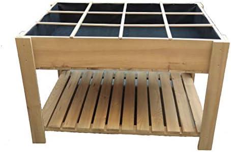 La Noria Mesa de Cultivo huerto Urbano 80x120x80 cm. Montaje Muy fácil y rápido. Separadores extraíbles para Zonas de siembra y Malla geotextil.: Amazon.es: Jardín