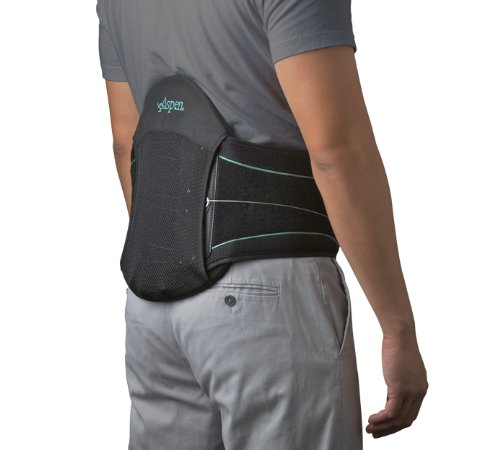 Aspen Medical Summit L0631 Lumbar Support Back Brace, Black, One Size Adjustable by Aspen Summit