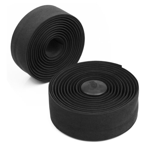 Sportty 2 New Bike Bicycle Cycling Cork Handlebar Tape Wrap +2 Bar Plug Waterproof Black (Synthetic Tape Cork Bar)
