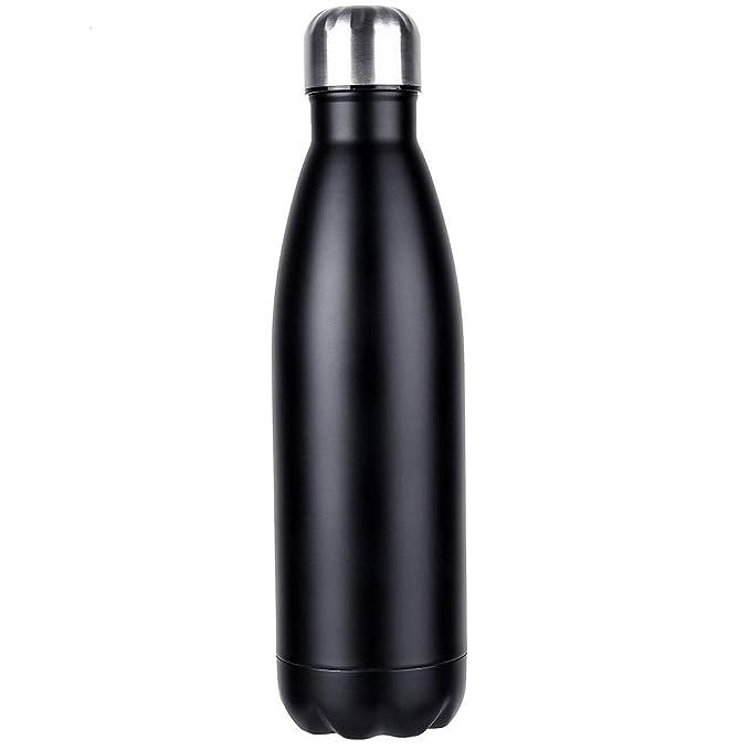 Werded - Botella para agua y bebidas aislada al vacío, a prueba de fugas, doble pared, de acero inoxidable. Conserva el frío 24 horas y el calor 12 horas.