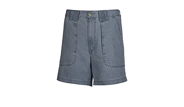 49c33fef Amazon.com: Hook and Tackle Big Men's Side Elastic Drink Can Island Canvas  Fishing Short,Blue,52: Clothing