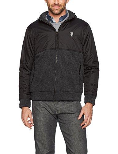 U.S. Polo Assn. Men's Colorblock Sherpa Lined Fleece Hoodie