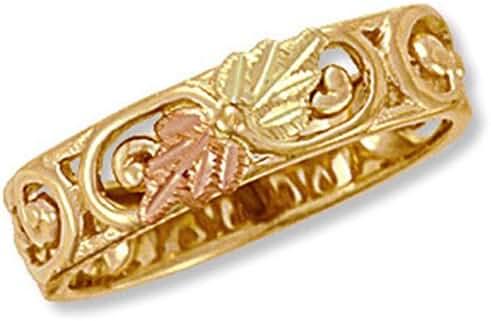Landstroms Ladies 10k Black Hills Gold Ring with 12K Leaves - 02932