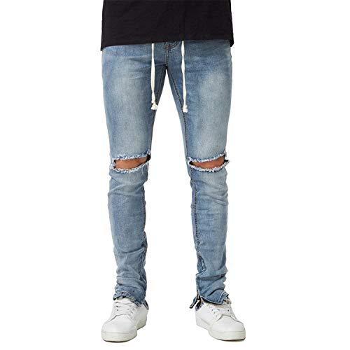 Disperati Skinny Da Casual Pantaloni Jeans Fit Slim Denim Taglie Fori Frey Stretch Abiti Strappati Blu Comode Uomo 4pCx5SqUnw