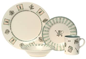 pfaltzgraff naturewood 16piece stoneware dinnerware set service for 4