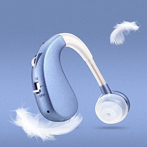 Wireless Hearing Amplifier,Original Sound Headphone Amps Rechargeable Behind The Ear Seniors Deaf,Blue