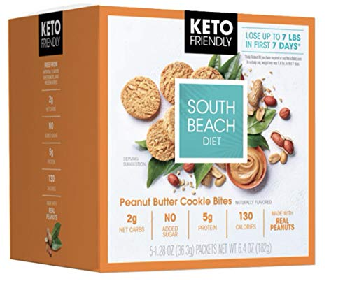 South Beach Diet Keto Peanut Butter Cookie Bites 1 Box (5 Little Bags)