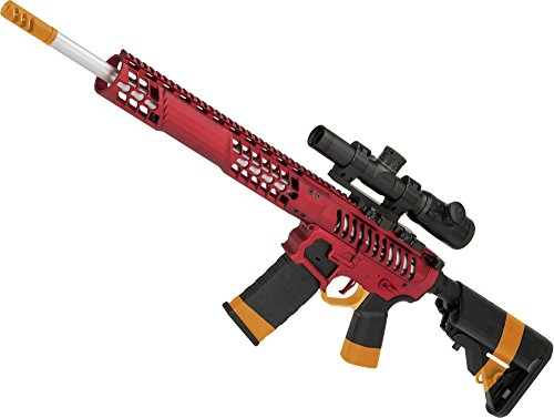 Evike EMG F1 Firearms BDR-15 3G AR15 Full Metal Airsoft AEG Rifle (Color: Red Selector/Crane Stock)