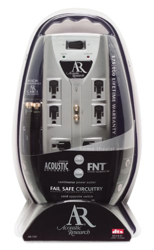Acoustic Research AR-10V 10-Outlet, 1736 Joule, 75,000 CEW Surge Protector