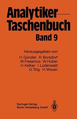 Analytiker-Taschenbuch  [Günzler, Helmut - Borsdorf, Rolf - Fresenius, Wilhelm - Huber, Walter - Kelker, Hans - Lüderwald, Ingo - Tölg, Günter - Wisser, Hermann] (Tapa Blanda)