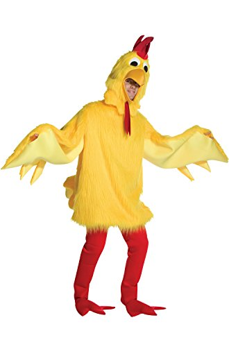 Fuzzy Chicken Costume Costume - One Size - Chest Size 42-48 (Chicken Costumes For Adults)