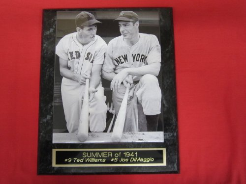 Joe DiMaggio Ted Williams Collector Plaque w/8x10 RARE 1941 PHOTO