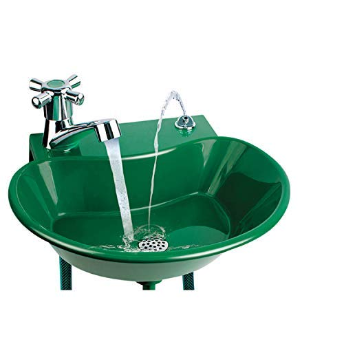 - 2-in-1 Outdoor Water Fountain and Faucet
