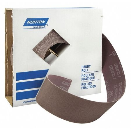 Utility Cloth Roll, 150 ft L, Coarse, Brown by Norton Abrasives - St. Gobain