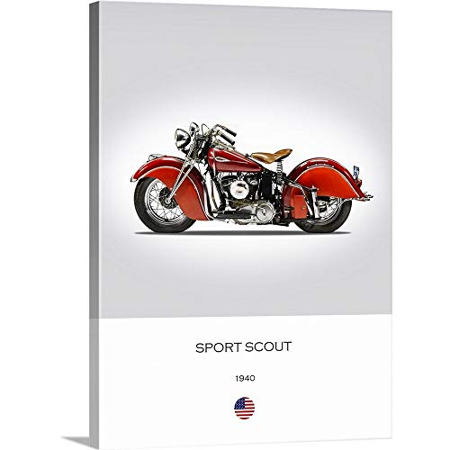 GREATBIGCANVAS Gallery-Wrapped Canvas Entitled Indian Sport Scout 1940 by Mark Rogan 18