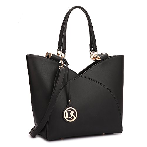 dasin-women-fashion-tote-large-zipper-handbag-with-removable-shoulder-strap-black